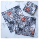 victorian halloween cotton handkerchief