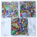 jardin de succulentes : mouchoirs en coton
