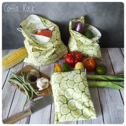 sac à vrac réutilisable - concombres