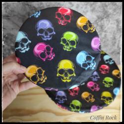 couvre-bol crânes multicolores