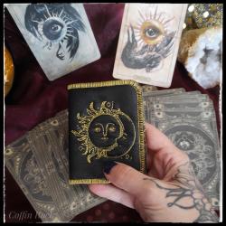 Porte-carte lune et soleil